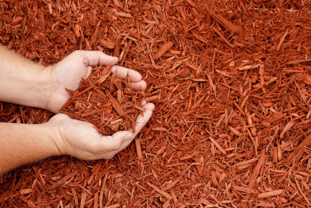 manorville ny mulch installation 8